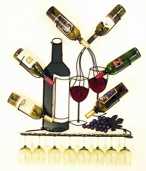 "Wine Rack 18 with Full Colors ( 32""w x 38""h x 6""d )"