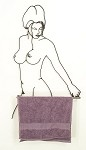 Alicia Towel Holder ( 20.5