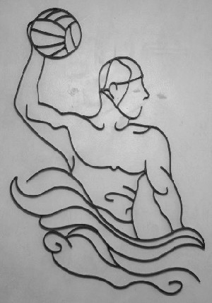 "Water Polo Man (25""w x 32""h)"