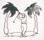 Golf scene 1 w/ Palm Trees ( 31