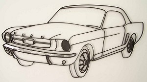 "1965 Ford Mustang ( 41.5""w x 21""h )"
