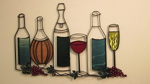 "Wine Bottle Group 36"" x 24"""